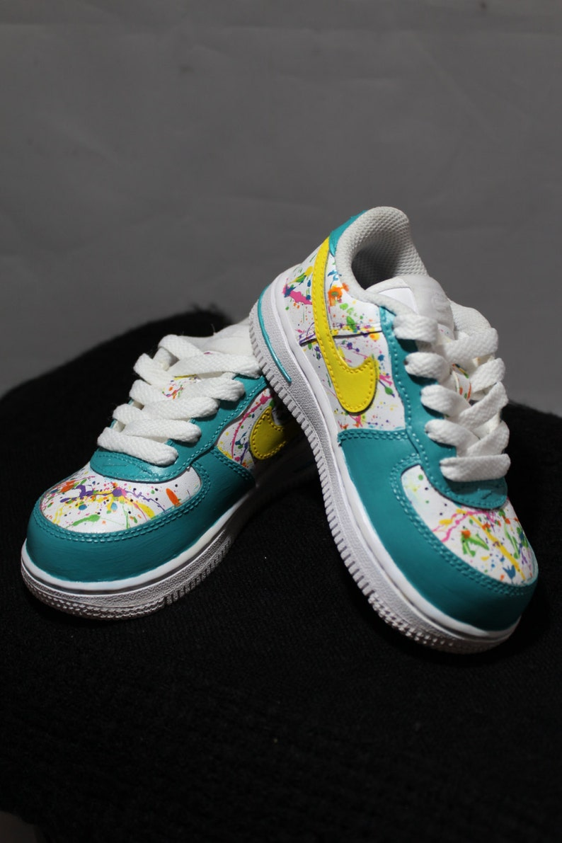89b85646fbcee Custom Painted Air Force Ones- Hand Painted Tennis Shoes- Nikes- Splatter  Painted- Custom Tennis Shoes- Custom Painted Air Force Ones