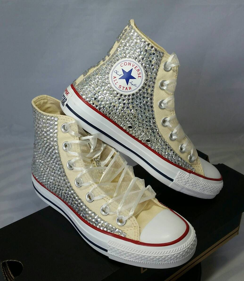 Full Bling Wedding Converse Bridal Sneakers Custom Converse Etsy