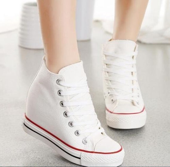 f766f38f9ecc ... Off Brand Wedge Full Bling Wedding Sneakers Bridal Sneakers Etsy