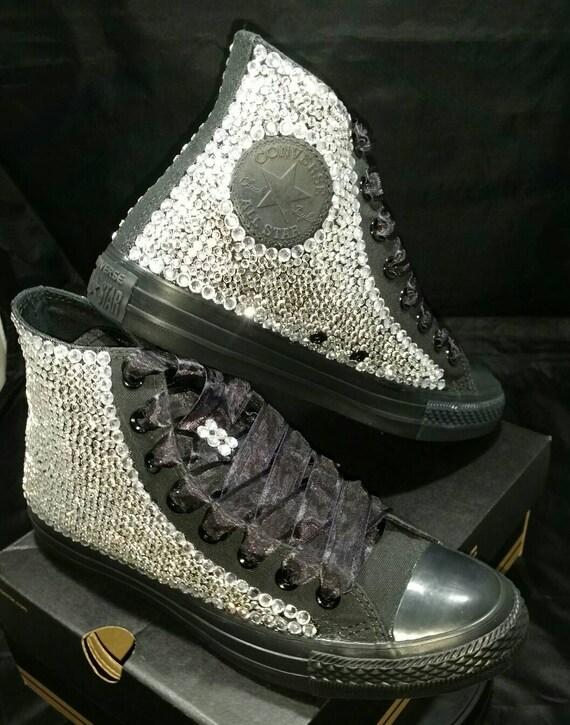 Full Bling Wedding Converse Bridal Sneakers Custom Converse Etsy