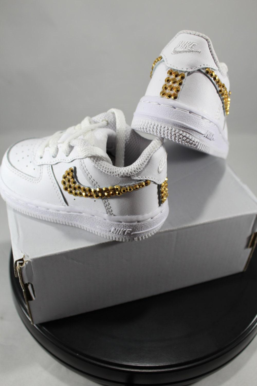 Custom Bling Air Force Ones Bling Tennis Shoes Bling   Pearls  babf32990