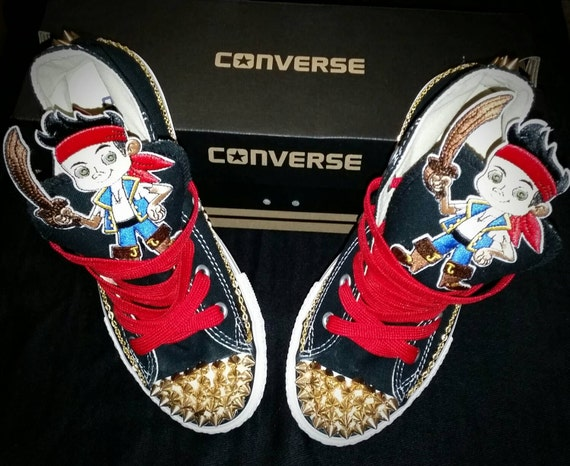 Boys Custom Converse Sneakers Jake and the Neverland Pirates Converse Kids Converse Boys Custom Sneakers Batman Superman Mickey Mouse