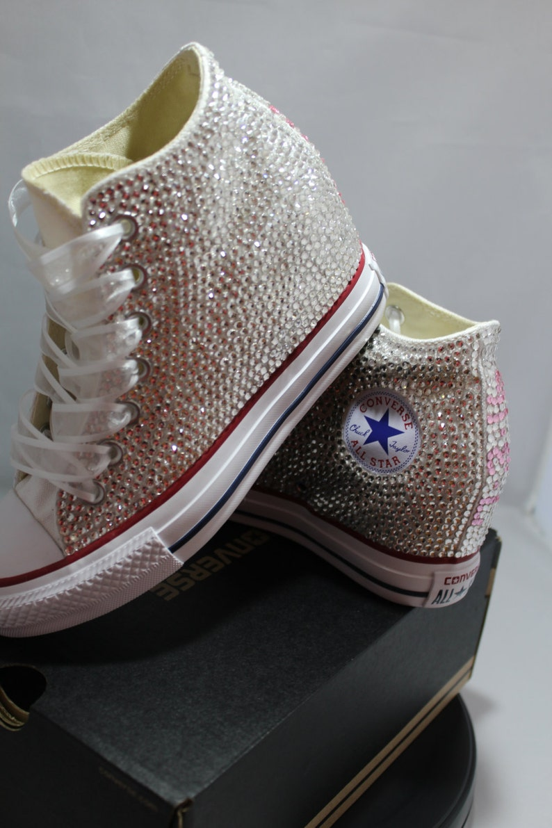 a76403d6de4f Off Brand Wedge Full Bling Wedding Sneakers Bridal Sneakers
