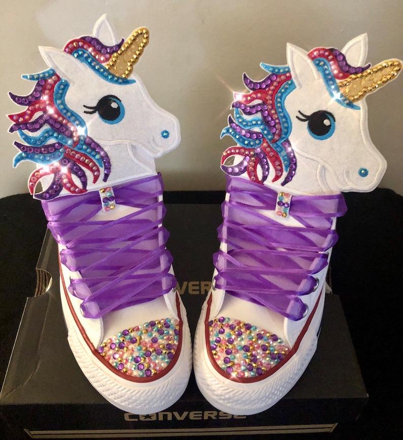 7da8fed00705 Girls Custom Converse Kids Converse Bling Converse Unicorn
