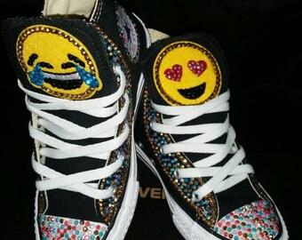 Girls Custom Converse- Kids Converse- Bling Converse- Emoji Converse- Minnie Mouse- Doc Mcstuffins- Frozen- Paw Patrol- Shopkins- Sneakers