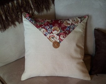 "Pillow Cover - 16"" x 16"" Country Button"