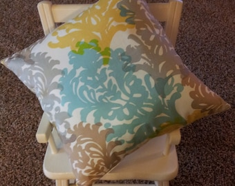 "Pillow Cover - 16"" x 16"" Waverly Fabric"