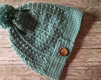 Hat, Yenni Slouch Crocheted Beanie