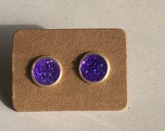Zola Studs in True Purple