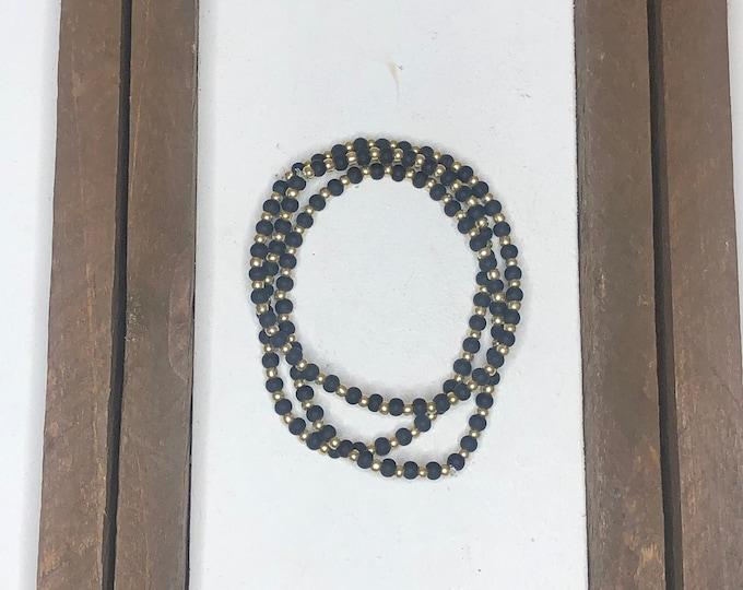Black Bracelet Stack (3pc)
