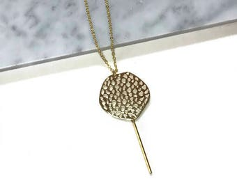 Gold Statement Necklace | Honeycomb Necklace |
