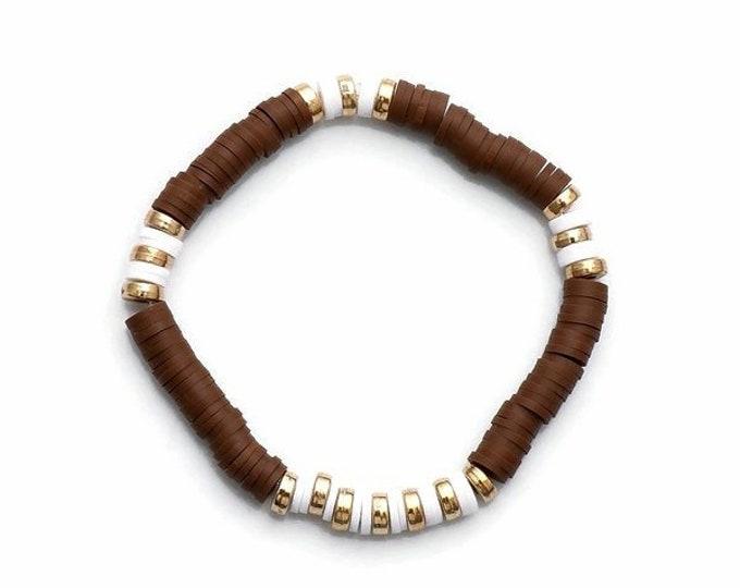 Chocolate Clay Bead Bracelet(s)