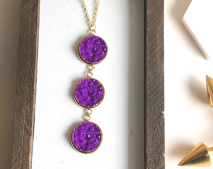 Keith Statement Druzy Necklace