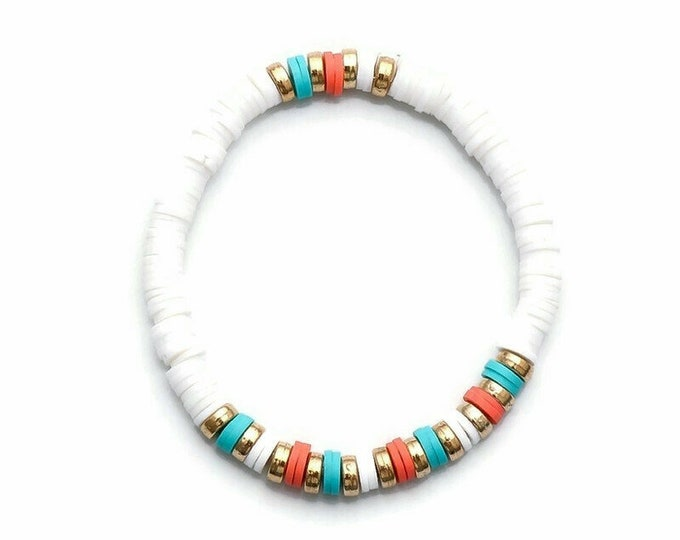 White Clay Bead Bracelet(s)