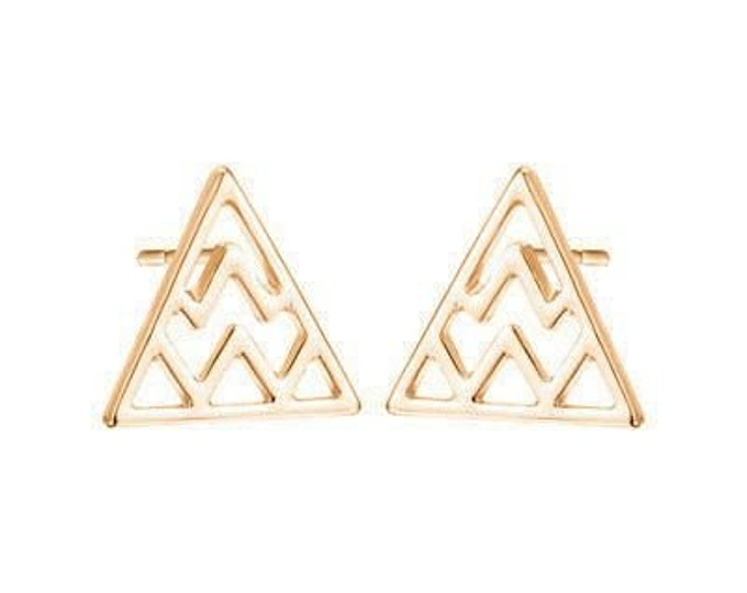 Mount Olympus Studs in Rose Gold