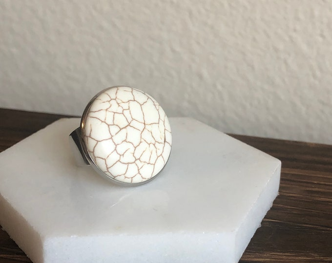 Silas Marble Quartz Ring