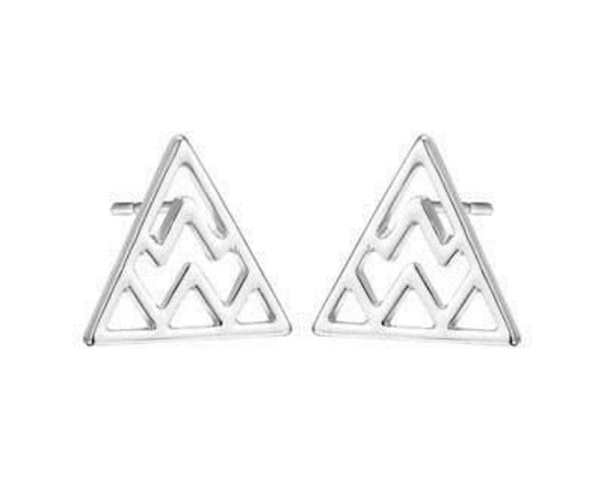 Mount Olympus Studs in Silver