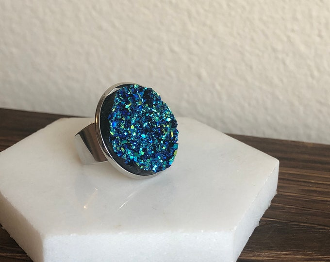 Silas Druzy Quartz Ring