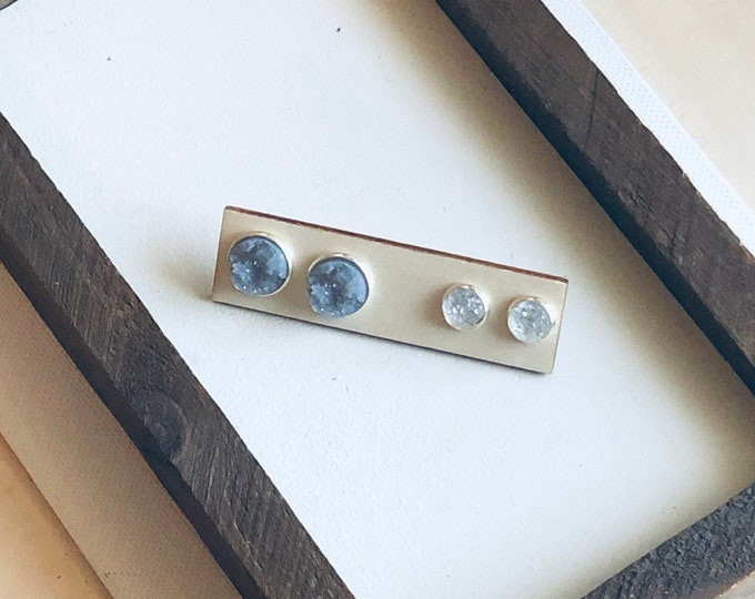 Gray Mommy and Me Stud Set