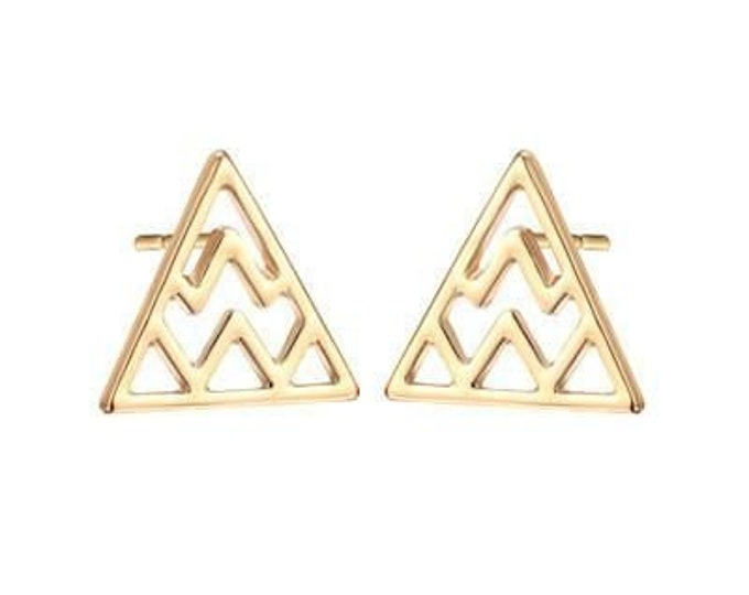 Mount Olympus Studs in Gold