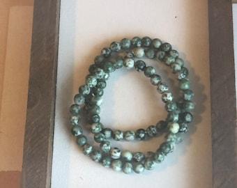 Green Gemstone Bracelet Stack (3pc)