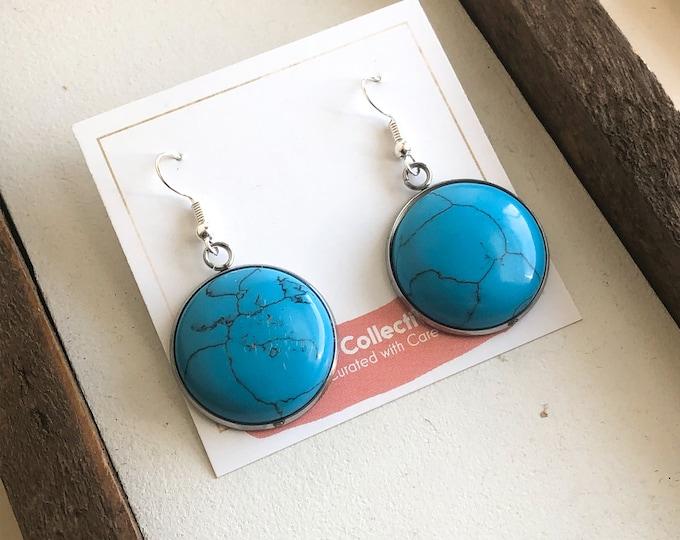 June Turquoise Drop Earrings