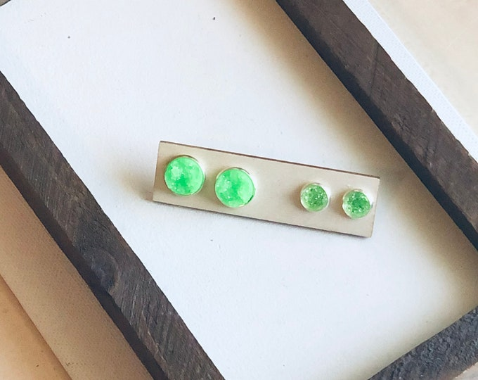 Kelly Green Mommy and Me Stud Set