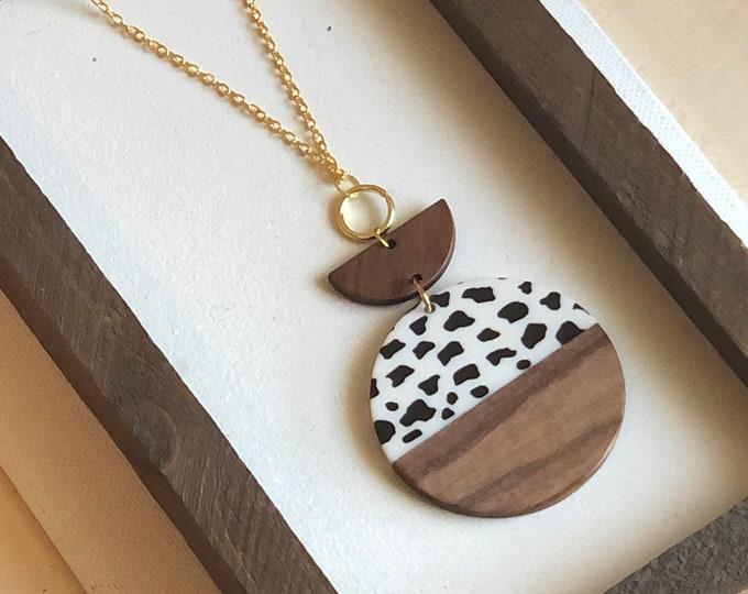 Cow Print Necklace