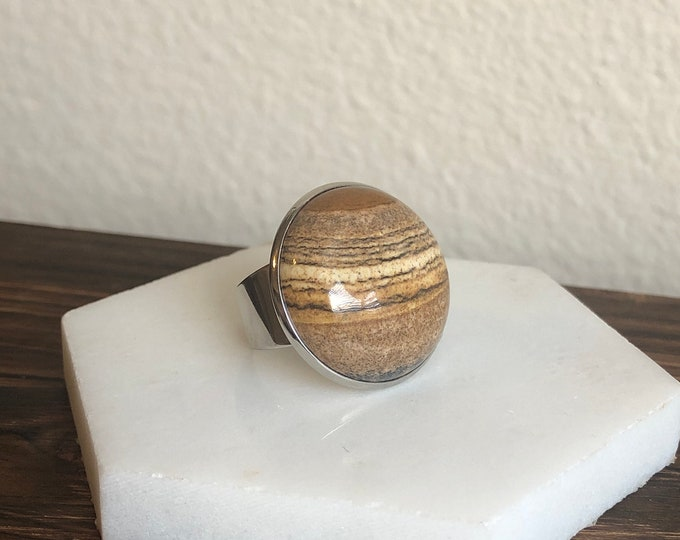 Silas Sandstone Quartz Ring