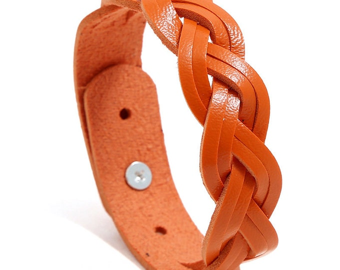 Raleigh Leather Braided Bracelet