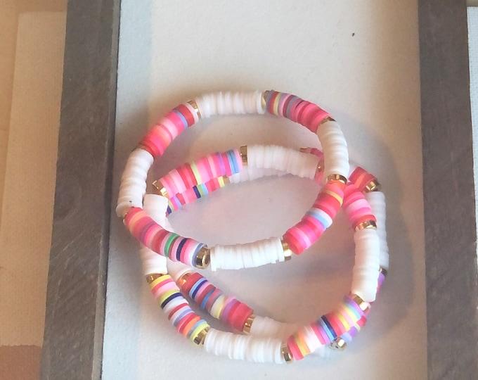 Multicolored Bracelet Stack (3pc)