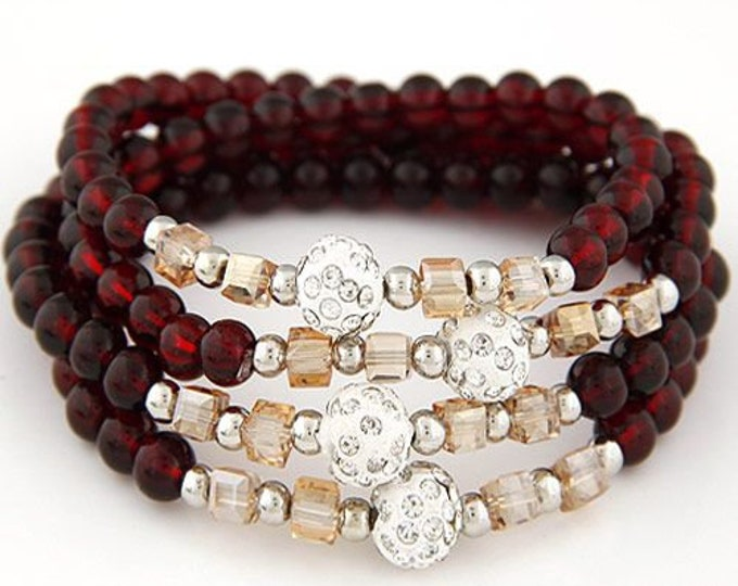 MaryAnne Stretch Bracelet (four layers)