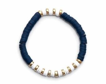 Navy Clay Bead Bracelet(s)