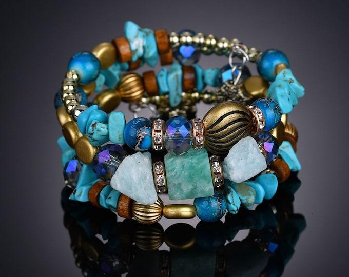 Gypsy Wrap in Light Blue