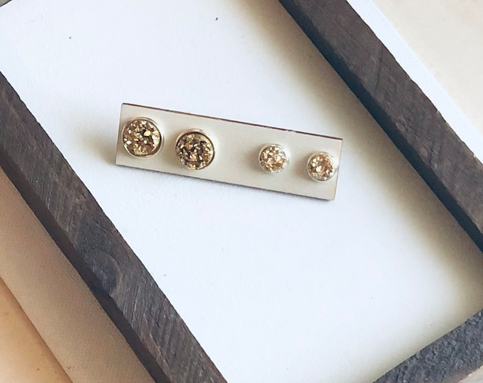 Gold Mommy and Me Stud Set