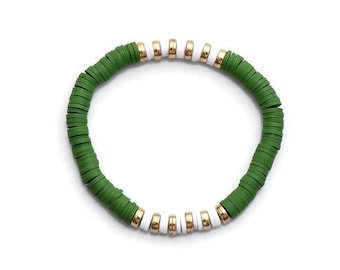 Forest Clay Bead Bracelet(s)