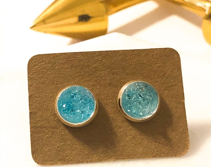 Zola Studs in Turquoise