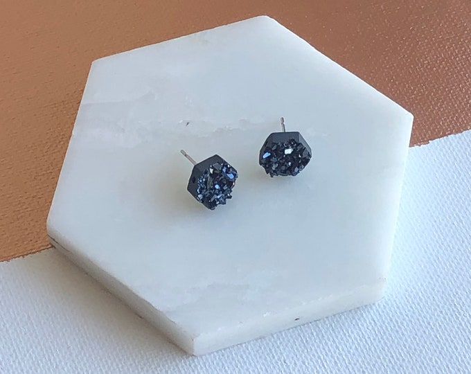 Caroline Hexagon Studs
