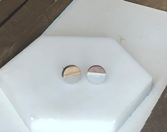 Clear Wood and Resin Studs