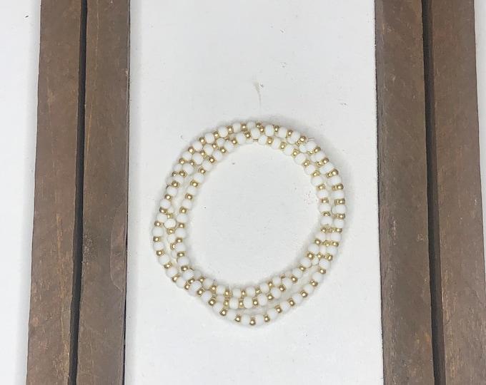 White Bracelet Stack (3pc)
