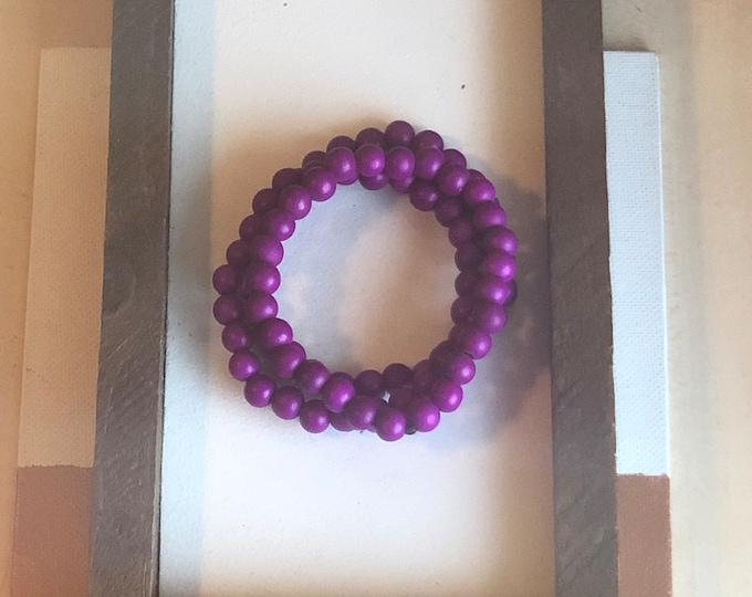Purple Bracelet Stack (3pc)
