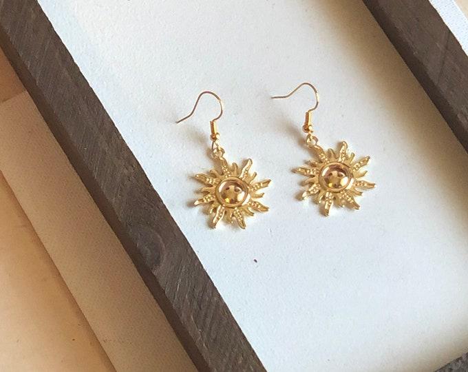 You are my Sunshine Drop Earrings