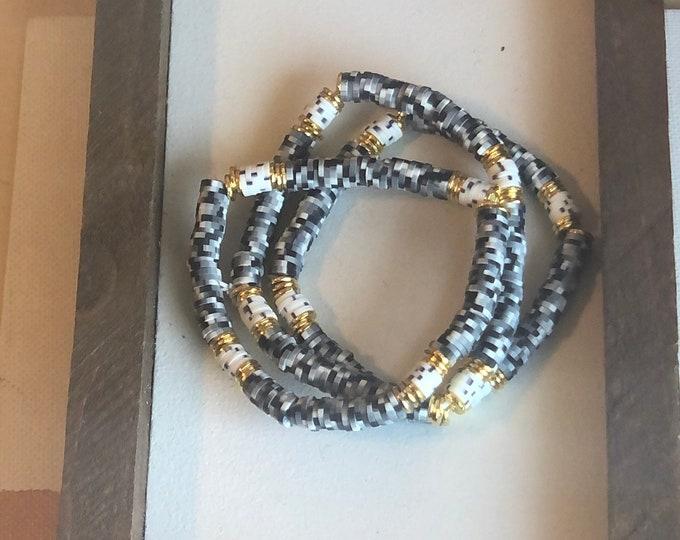 Black and White Bracelet Stack (3pc)