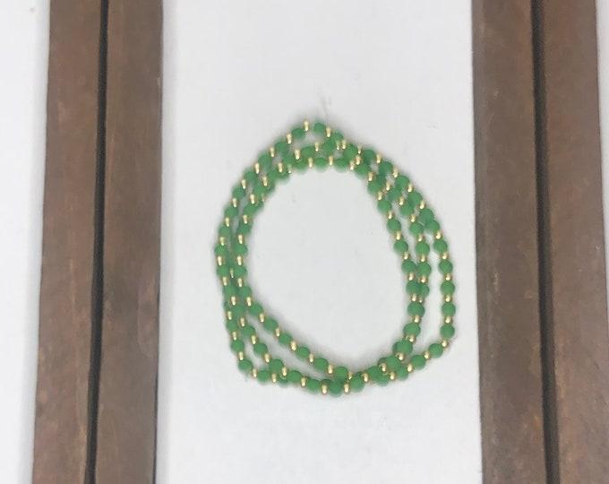 Green Bracelet Stack (3pc)