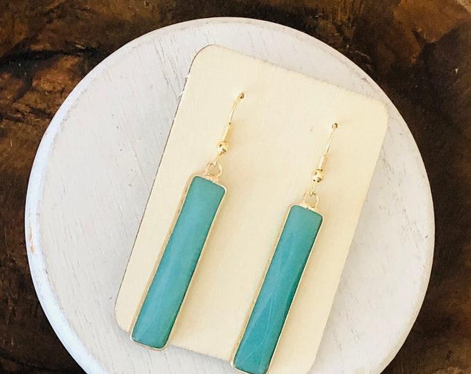 Axel Bar Earrings- Turquoise