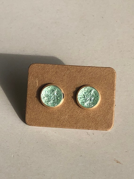 Zola Studs in Lightest Green