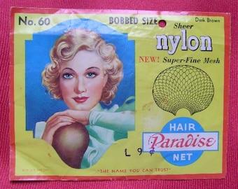 Vintage 1940's Paradise Hair Net - Dark Brown