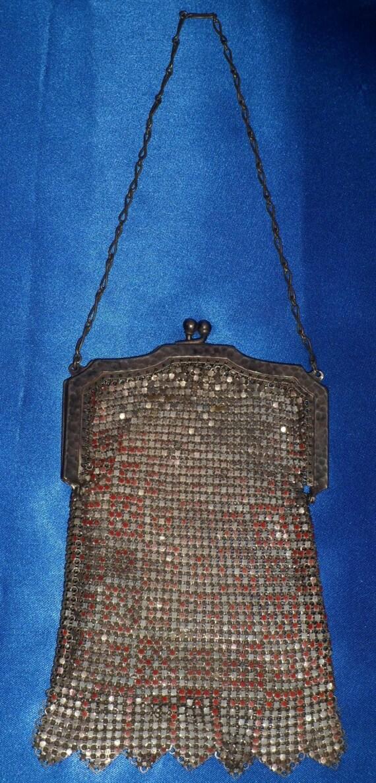 Vintage Early 1900's Edwardian Era Mesh Metal Purs