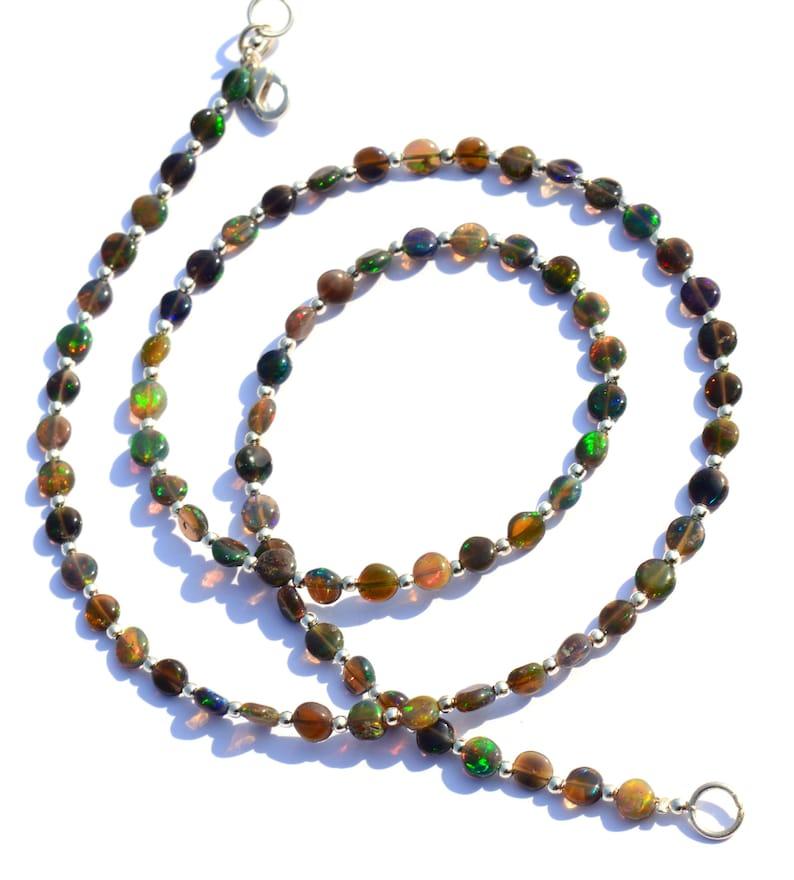 Natural Gem Super Quality Multicolor Apatite Faceted 4MM Rondelle Beads Necklace