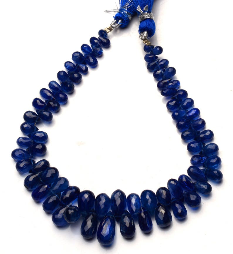 Natural Gemstone Super Quality Kyanite 5x3 to 13x7MM Faceted Teardrop Shape Briolette Beads 8.5 Inch Full Strand Fine Quality Beads
